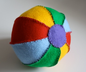 Making a Homemade Felt Toy Ball