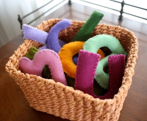 Homemade Toys: Felt Stuffed Letters