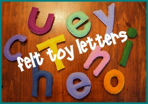 felt toy letters
