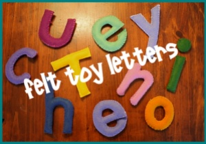 felt toy letters