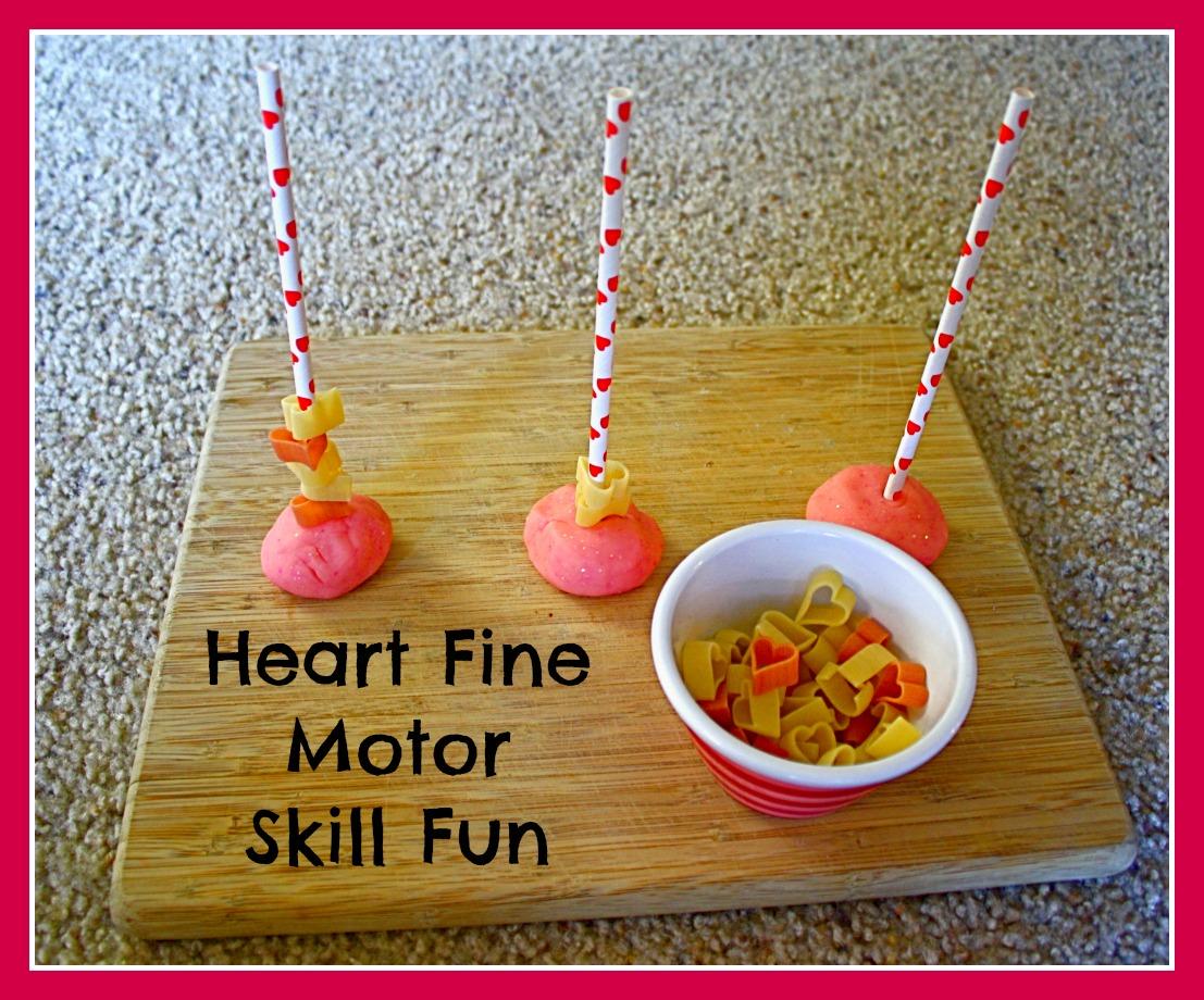 Toddler Activities: Heart Themed Fine Motor Activity